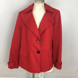 Jones New York Red Textured Blazer Jacket Size 16W